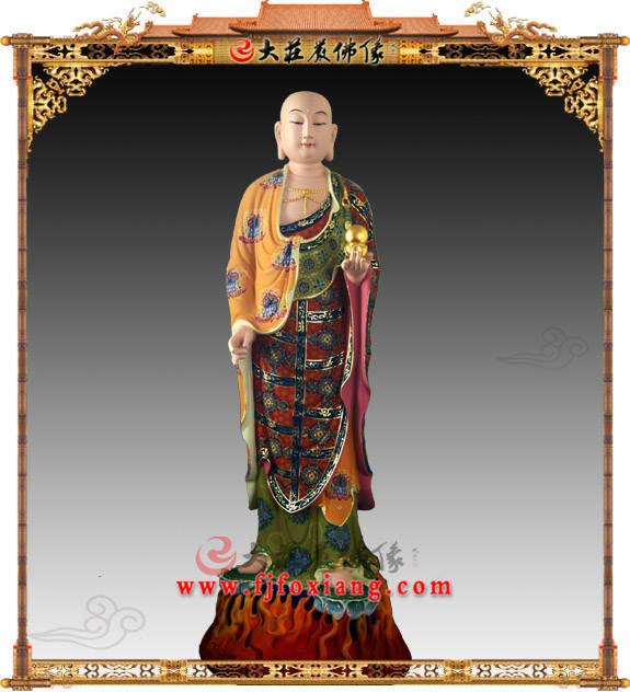 铜雕地藏王菩萨家供佛像