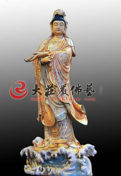 铜雕滴水观音塑像