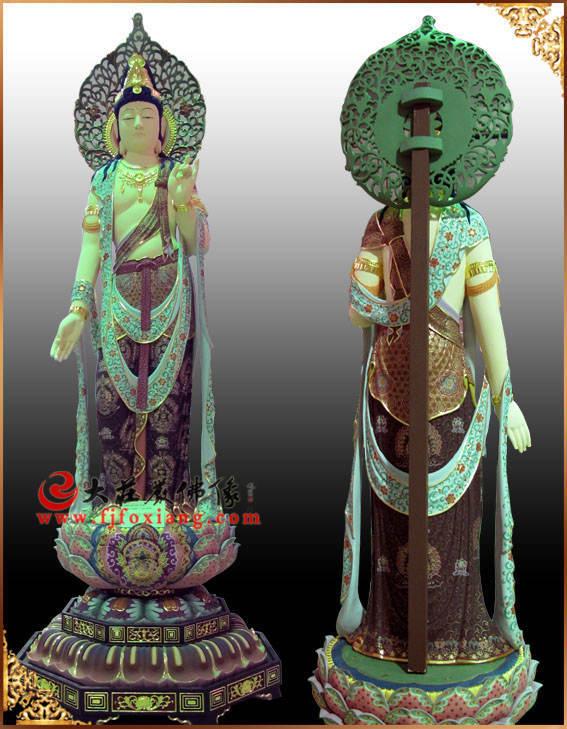 铜雕彩绘圣观音