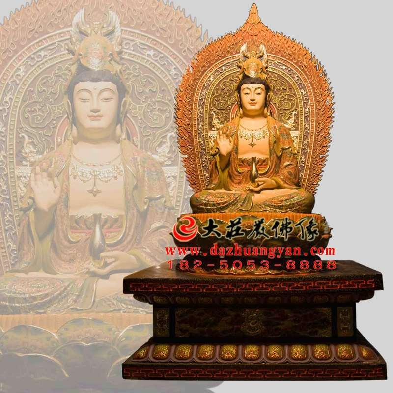 铜雕观音菩萨彩绘塑像