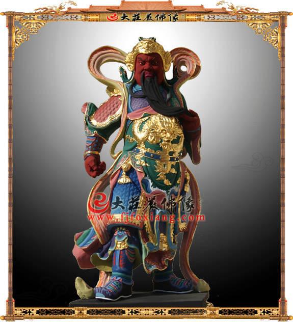 伽蓝菩萨铜雕彩绘