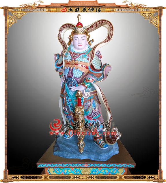 韦驮护法彩绘神像
