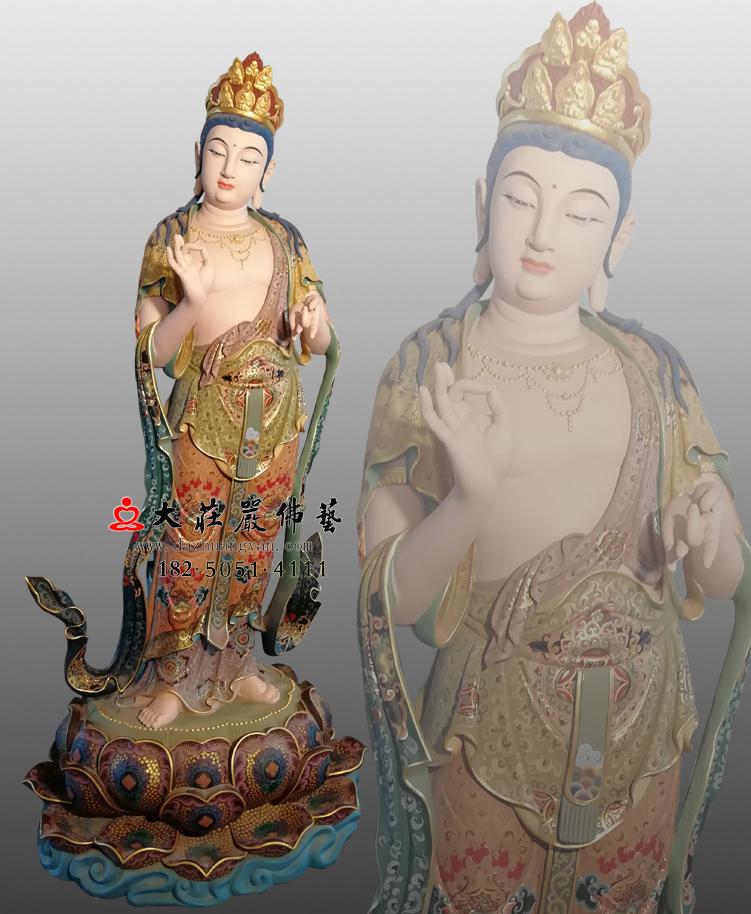 铜雕八大菩萨-金刚手菩萨彩绘佛像
