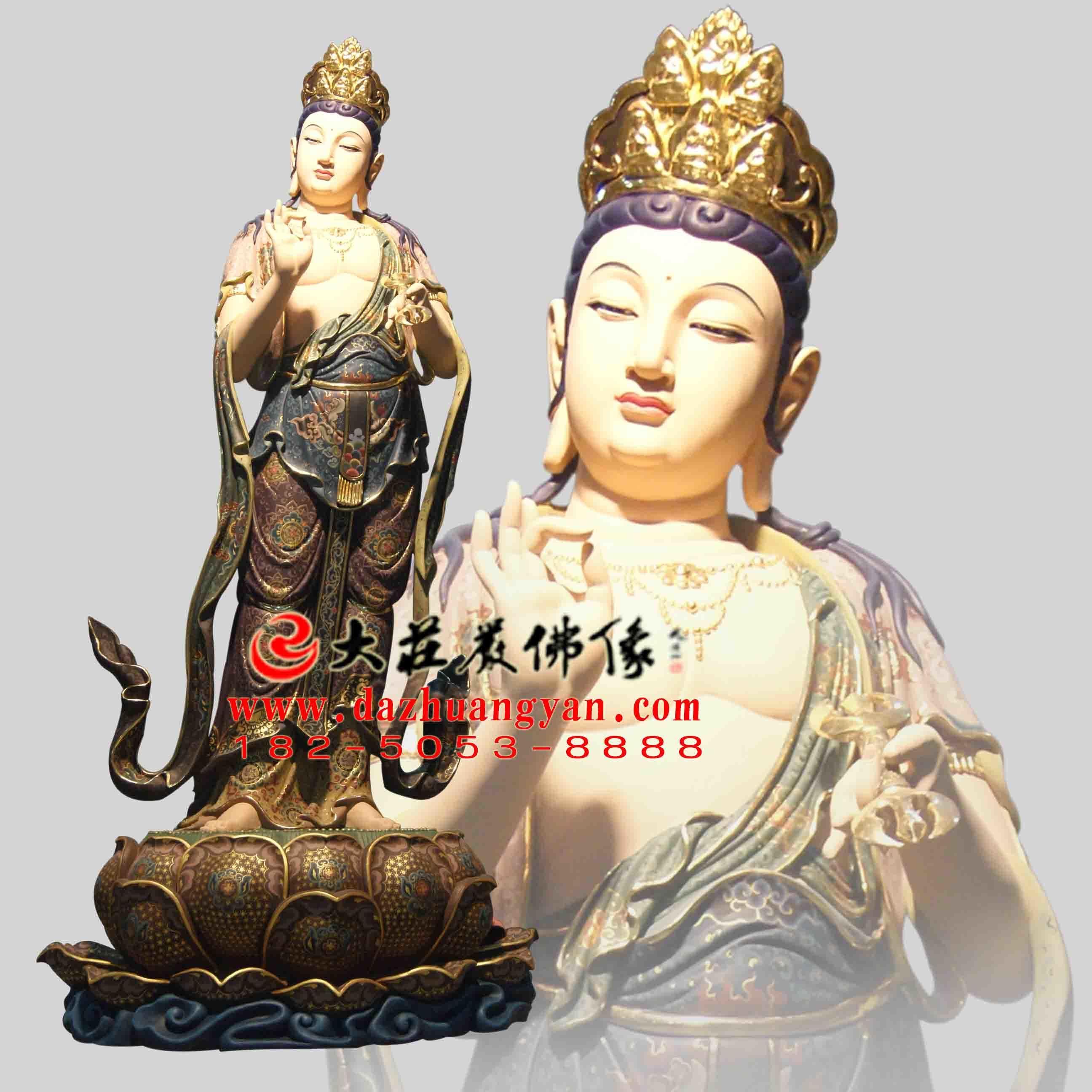 铜雕八大菩萨之彩绘金刚手菩萨