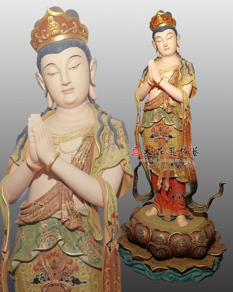 八大菩萨之观音菩萨彩绘佛像