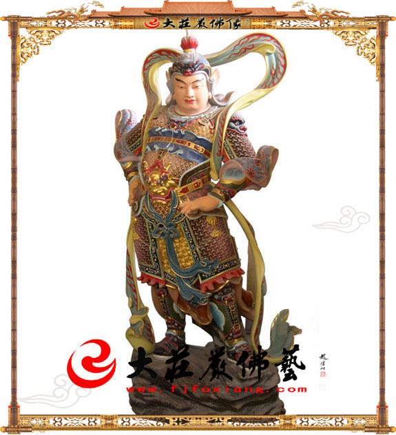 铜雕彩绘韦陀菩萨