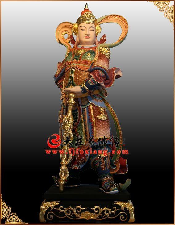 铜雕韦陀菩萨彩绘佛像