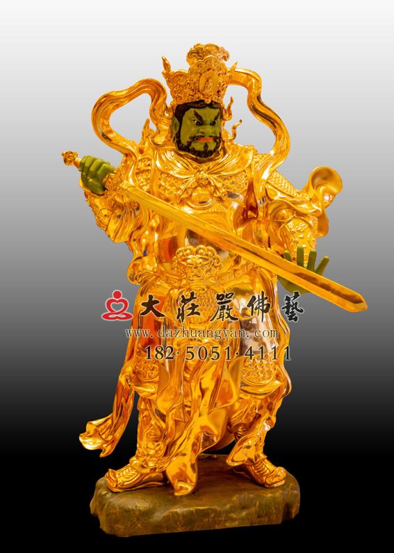 铜雕四大天王之贴金增长天王